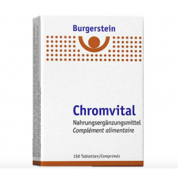 Burgerstein Chromvital 150 tablets  **VEGAN**
