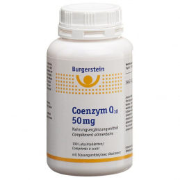 Burgerstein Coenzym Q10 50mg  100 suction tablets  **VEGAN**